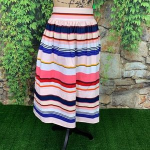 KATE SPADE Berber Stripe Skirt, 8